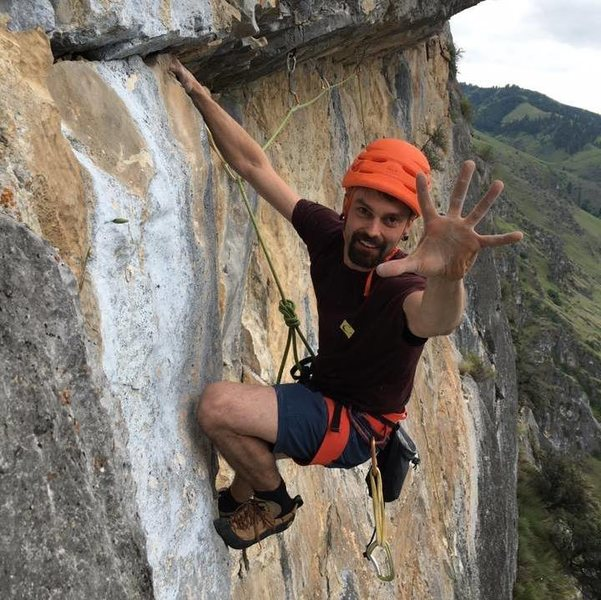 "Rock Climbing Photo: The traverse pitch of ""Halfway to Heaven 5.10..."