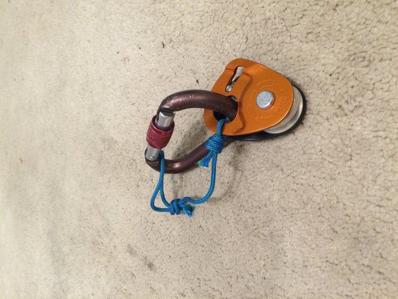 Rock Climbing Photo: Micro Traxion keeper cord closed