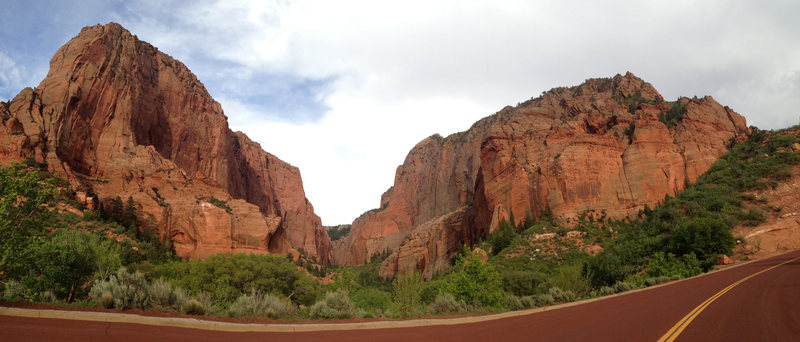 looking up in to the mouth of Kolob