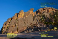 Rock Climbing Photo: This is the monolith in between the two major ger ...