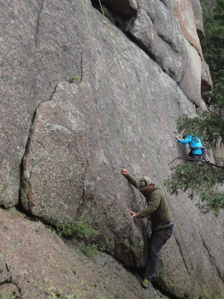 Brian starting up the climb.