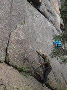 Rock Climbing Photo: Brian starting up the climb.