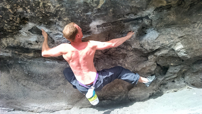 Rock Climbing Photo: Opening moves.