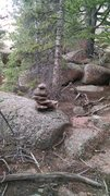 Rock Climbing Photo: Look for this cairn on your left.