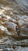 Rock Climbing Photo: Good shot of the crack on Ga'Jamit.  This isn&...
