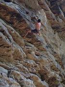 Rock Climbing Photo: Projecting Ga'Jamit.  Attempting a heel hook i...