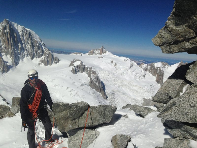 Rock Climbing Photo: Below dent du geant