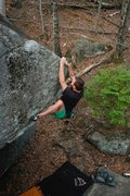 Rock Climbing Photo: Great Roof of China, Mackenzie Pond Boulders