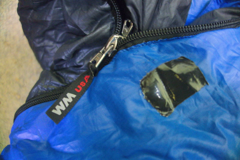 Patch covering zipper abrasion