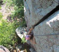 Rock Climbing Photo: Angie, seconding