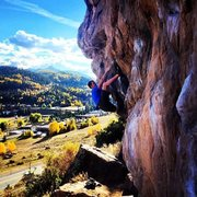 Rock Climbing Photo: Topping out on Frosted Flake, Society Turn, Tellur...