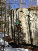 Rock Climbing Photo: Thrust Fault, Mackenzie Pond, NY.
