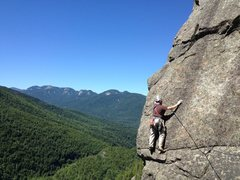 Rock Climbing Photo: Royce going through the business on Overture, fina...