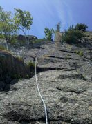 Rock Climbing Photo: P2 of Touch of Class, Moss Cliff, ADK.
