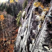Rock Climbing Photo: Halfway up Prince, King Wall, ADK.