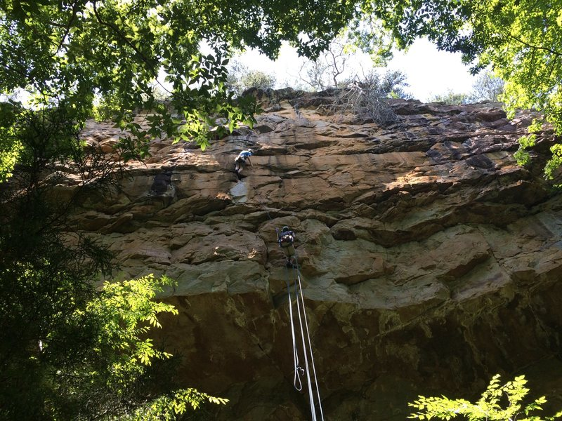 Rock Climbing Photo: Chuck leading pitch 2.