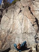 Rock Climbing Photo: The Don showing his pupils how it's done.  Fea...