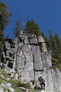 Rock Climbing Photo: the right crack is the lichenator the left crack i...