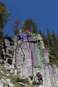 Rock Climbing Photo: 1 lichenator 2 lichen-lollipop