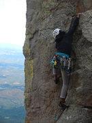 Rock Climbing Photo: Merryn working through the crux on her FA
