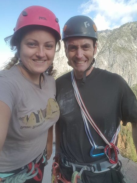 Ran into Casey Flowe while climbing the Nutcracker in Yosemite