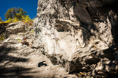 Rock Climbing Photo: Steeper and more leaning than it seems from the gr...