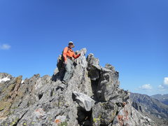 Rock Climbing Photo: Notchtop summit spire. Whoever gave me two stars o...