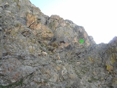 Rock Climbing Photo: The start of the Spiral Route. The two sheep gave ...