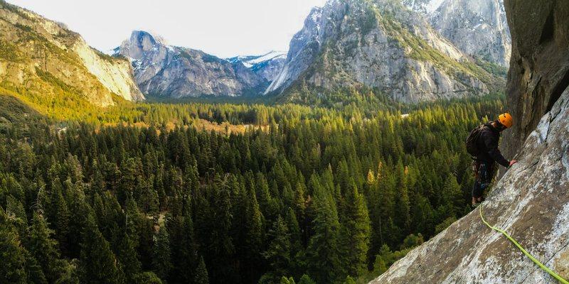 Rock Climbing Photo: Commitment 5.9