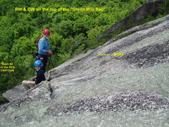 "Rock Climbing Photo: Photo #5  RW & OW at the top of the ""Center C..."