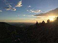 Rock Climbing Photo: Upper Jungle at sunset.