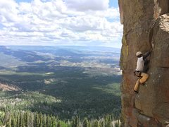Rock Climbing Photo: Roy on Prime Eight. Beautiful view.