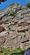 "Rock Climbing Photo: The first two pitches and variations of ""Wish..."