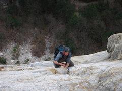 Rock Climbing Photo: following Pillar of Frenzy