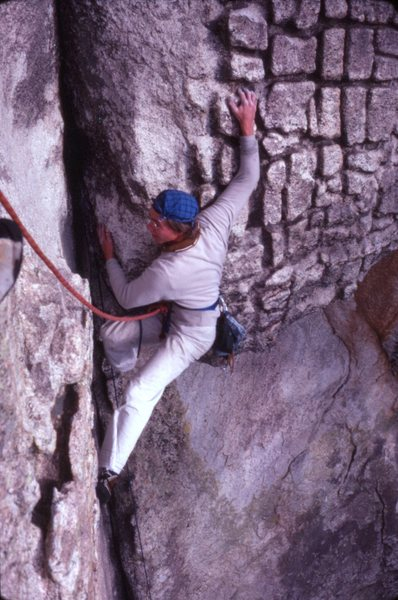 Rock Climbing Photo: Dag Kolsrud on pitch 1 1978