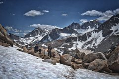 Rock Climbing Photo: On the Mono Pass Trail with BCS, Mt. Dade and Mt. ...
