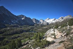 Rock Climbing Photo: Little Lakes Valley as seen from the Mono Pass Tra...
