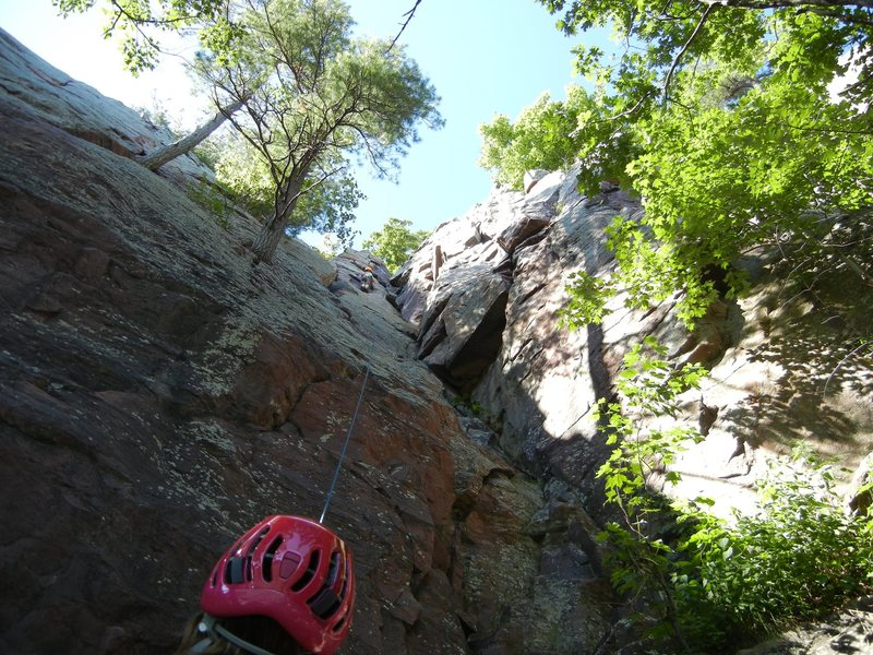 Rock Climbing Photo: Not quite able to finish the route with the TR anc...
