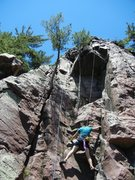 Rock Climbing Photo: A great shot of my Son pulling the small roof of F...