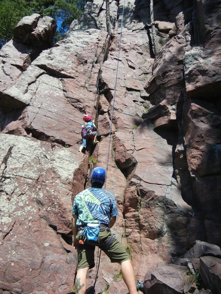 Rock Climbing Photo: Family friendly route.