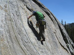"Rock Climbing Photo: Looking for pro at the start of ""Up, Jump, Sp..."