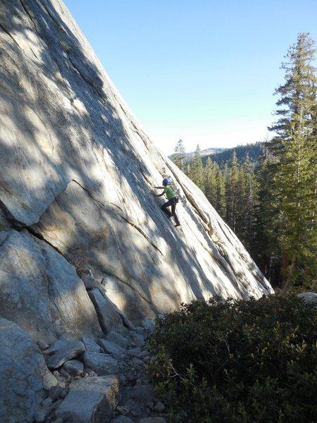 "Rock Climbing Photo: Starting up ""Up, Jump, Spring."""