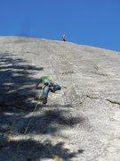 "Rock Climbing Photo: Climbers on ""Up, Jump, Spring."""