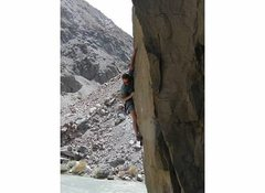Rock Climbing Photo: Todd Graham at the crux move of Pumping Groundwate...