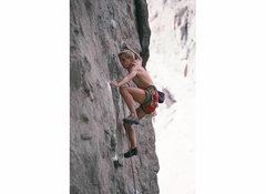 Rock Climbing Photo: Todd Graham at the lower crux of Ripoff, 1991.