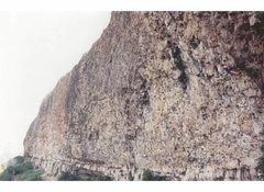 Rock Climbing Photo: Todd Graham on Fugitive, .13, mid-90s.