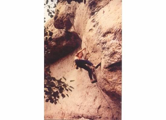 Rock Climbing Photo: Todd Graham on Wind and Rattlesnakes, .12a.