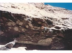 Rock Climbing Photo: Todd Graham on Looney Binge, .12c, mid-90s.