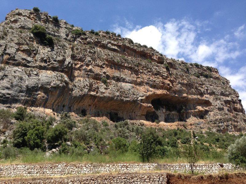 Rock Climbing Photo: One section of the Tannourine Crag...