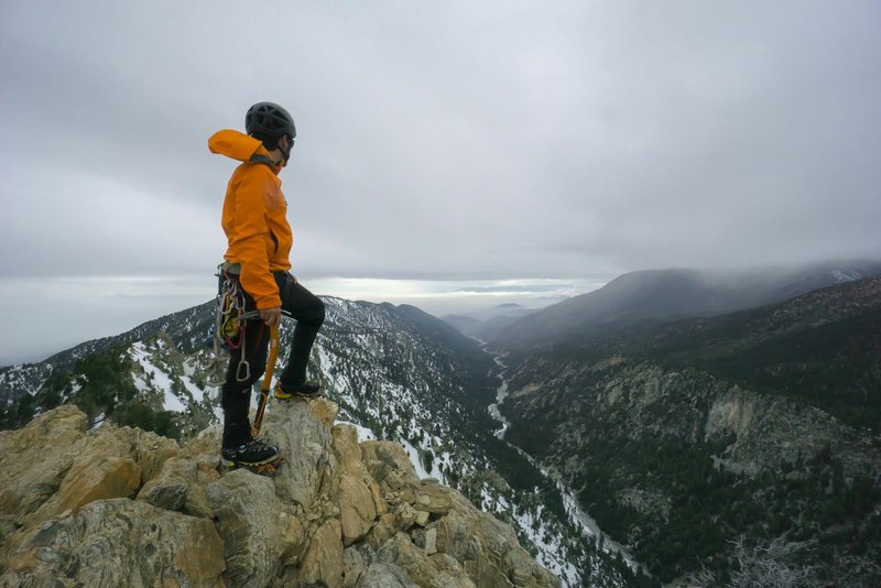 standing on the summit of Galena Peak